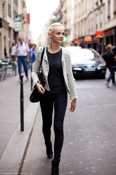 simple chic - black and white jacket
