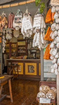 This is where you need to go for a culinary adventure! Norcia is full of truffles, cheese, pork, and lentils. You'll find truffle salami, porchetta, and more. #italy #travel #food #wine #culinarytravel #italianfood #umbria #pork #cheese