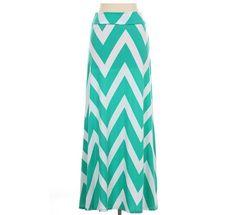 Mint Chevron Maxi Skirt Tie Dye Maxi Skirt Causal Maxi Bottom Dress Long Dress