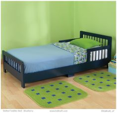 Slatted Toddler Bed   Blueberry. #toddlerbeds