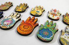Exotic Hamsa Collection  10 Patterned Wood Cuts by porkchopshow, $7.95