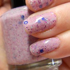 Berry Patch Polish - Light Pink Glitter Nail Polish