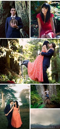 Engagement Photos: Ashley and Andy's Engagement Photos in the Redwood ForestTheKnot.com -