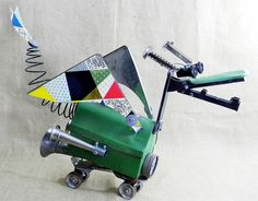 RUCKUS - A Clanky and Calamitous Dragon Assemblage Sculpture - found object - Reclaim2Fame