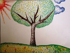 Pointillism cool art ideas pointillism, art и dot painting Dot Painting, Painting & Drawing, Pointillism, Arts Ed, Cool Art, Art Drawings, Art Projects, Dots, Sketches