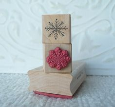 Tiny snowflake rubber stamp from by oldislandstamps on Etsy, $6.25