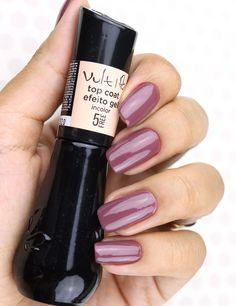 Tudo sobre o Top Coat Efeito Gel 5    Free da Vult - Na foto estou com o Determinada da Vult #unhas #nails #vult #esmalteVult