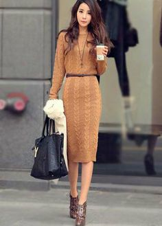 it's so hard to find a good sweater dress, but this is great. probably too long for me though.