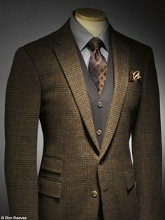 Like the earthy colors. Really need to get a good vest and pocket square, though. I'm not certain this would for my chest shape, either.