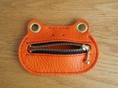 かえるのコインケース FUNKY オレンジフロッグ|小銭入れ・コインケース|ハンドメイド通販・販売のCreema