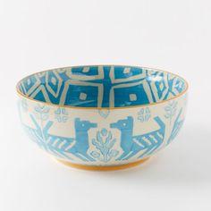Folk Printed Serving Bowls - Large