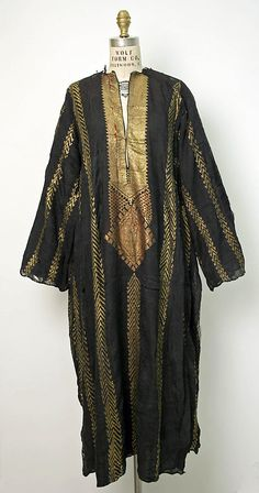 Dress  Date: 19th century Culture: Egyptian Medium: cotton, metallic  Metropolitan Museum of Art