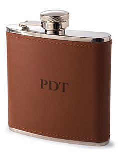 Your Dad will love this monogrammed flask as a Father's Day gift!