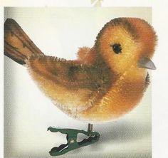 """STEIFF YELLOWHAMMER ORNAMENT"""" EAN 037689 MOHAIR BIRD ORNAMENT WITH CLIP #Steiff"""
