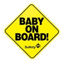 El diario de mi Hogar: Gratis Safety 1st 'Baby on Board' Sign!