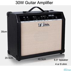 79.90$  Buy here - http://ali9j9.shopchina.info/1/go.php?t=32812196203 - 30W Digital Acoustic Guitar Amp Amplifier Speaker 6.5 inches with 3Bands Effects & 2 Simulation Effect Earphone Input Black  #buymethat