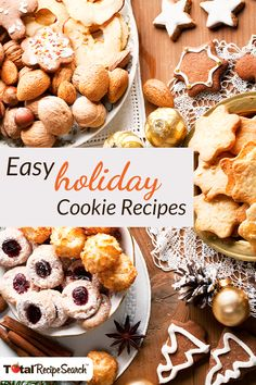 'Tis the season! Get thousands of free recipes with TotalRecipeSearch™. Your favorite holiday cookies recipes— and so much more.