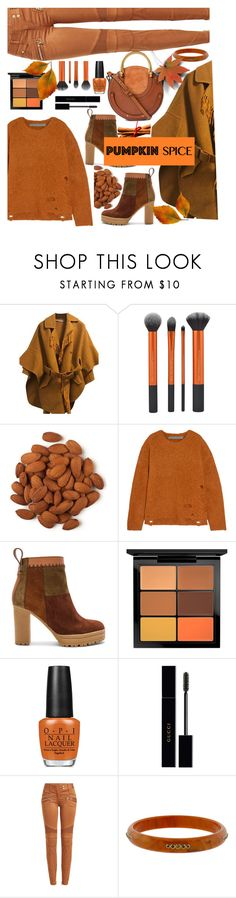 """""""Untitled #934"""" by m-jelic ❤ liked on Polyvore featuring Ermanno Scervino, Raquel Allegra, See by Chloé, MAC Cosmetics, OPI, Gucci, Balmain, Mark Davis and Chloé"""