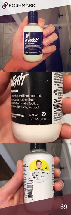 """full sized Lush No Drought Dry Shampoo 1.9 oz. lush """"No Drought"""" Dry Shampoo. Paid full price at Lush for it, used it 1-2 times max and didn't like it for my hair. Lush Other"""