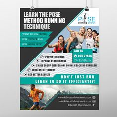 create a catchy flier for Pose Method running technique clinics by *Bdesign
