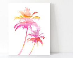 Water colour Palm tree