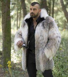 MEN'S LYNX FURS : Men's Lynx Fur Jacket With Hood