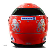 Michael Schumacher helmet, Mercedes, 2012