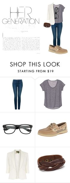 """""""Her Generation"""" by avery-22 on Polyvore featuring NYDJ, Sperry, Jolie Moi, caual and hergeneration"""