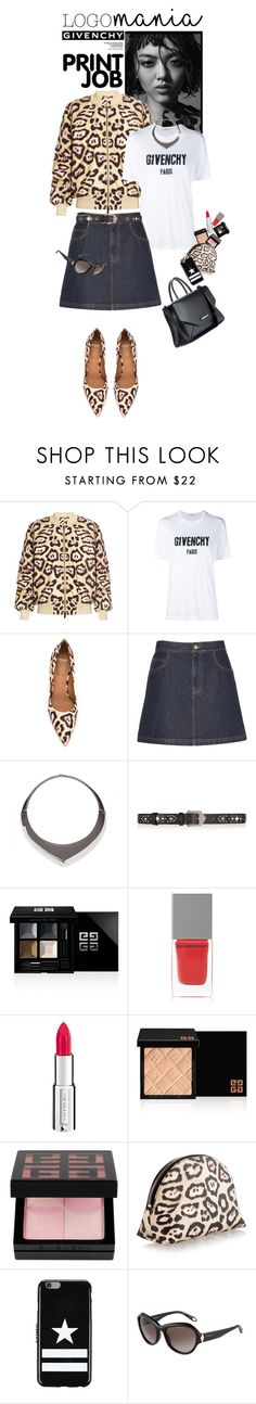 """Logomania! Givenchy Leopard Print !!!"" by shortyluv718 ❤ liked on Polyvore featuring Givenchy and logomania"