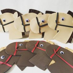 Conjunto de cabezas de caballos de Hobby de 4 DIY por Craftytude