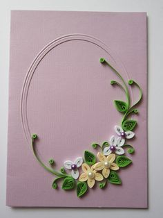 Quilling card Paper Quilling Cards, Paper Quilling Flowers, Paper Quilling Designs, Quilling Craft, Quilling Patterns, Toilet Paper Roll Art, Rolled Paper Art, Quilling Photo Frames, Paper Shaper