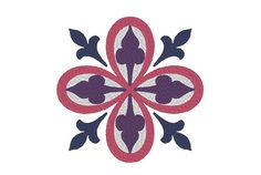 Medieval Floral Square Embroidery Machine Design by OCDEmbroidery
