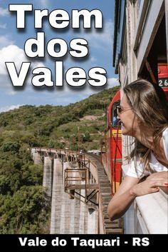 O Trem dos Vales é um passeio de trem entre montanhas e vales no Vale do Rio Taquari no RS. #trem #viajepelors #valedotaquari Rio Grande Do Sul, Trips, Travel, Brazil Travel, Train Travel, Train Rides, Travel Themes, Amazing Places To Visit, Transportation
