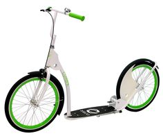 Featuring a unique styling, this Current Coaster kick bike scooter gives you the best of both worlds and is sure to be your new favorite mode of transportation. Retro Scooter, Scooter Bike, Kick Scooter, Bicycle, Coasters, Kicks, Electric, Green, High Speed