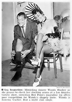 Redd Foxx Makes A Leg Inspection of Wanda Stasher - Jet Magazine Dec 2, 1954 | Flickr - Photo Sharing!