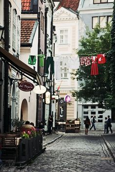 Great atmosphere in Old Riga, Latvia.