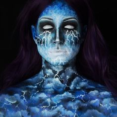 51 Jaw-dropping Halloween Makeup Ideas for Inspiration Nail and Make Up # Face Paint Makeup, Cat Makeup, Body Makeup, Airbrush Makeup, Makeup Art, Makeup Ideas, Body Painting, Sfx Make-up, White Eye Pencil