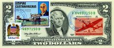$2 DOLLARS 1995 STAMP CANCEL CLASSIC AMERICAN AIRCRAFT LUCKY MONEY VALUE $125