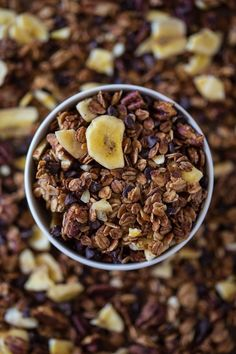 Banana Bread Granola @FoodBlogs