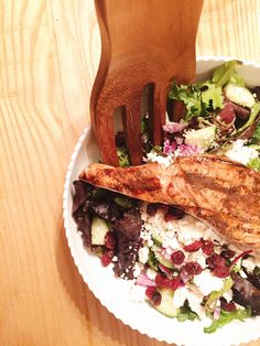 Summer Salad with Grilled Salmon
