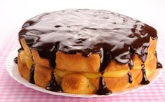 Happy National Boston Cream Pie Day, you know we're celebrating Pie Recipes, Dessert Recipes, Cooking Recipes, Recipies, Dinner Recipes, Boston Cream Pie, Round Cake Pans, Vegetarian Chocolate, Just Desserts