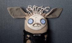 Funny creature, Unique gift handmade fabric art doll, Cute, Creepy, Goth, Adorable, Ooak, Christmas, Birthday, Vintage, Natural leather by SzyszkaDolls on Etsy Unique Gifts, Handmade Gifts, Rag Dolls, Christmas Birthday, Natural Leather, Fabric Art, Creepy, Goth, Creatures