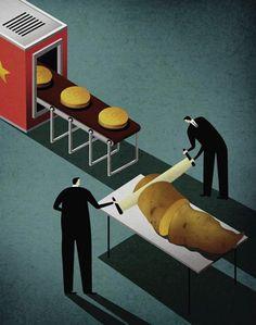 Le monde moderne en 22 illustrations satiriques de Kai Ti Hsu | Mr Mondialisation