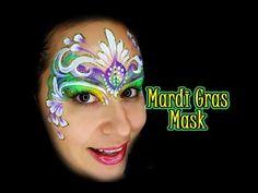 Mardi Gras Mask Featuring Glitter Gel - YouTube