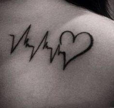 Heart Rhythm Tattoo