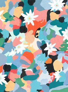 Graphic Design - Pattern Design Ideas - Inès Longevial Pattern Design : – Picture : – Description Inès Longevial -Read More – Art And Illustration, Pattern Illustration, Floral Illustrations, Graphic Design Pattern, Surface Pattern Design, Art Design, Design Ideas, Textile Prints, Art Prints