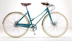 Gorgeous women's bike, The Bixby, made in Detroit by Shinola. The same company that makes handmade watches. $2000, but worth every penny. Sold at Angry Catfish Bicycles in Minneapolis.