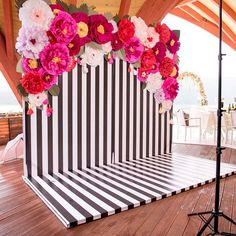Great Beautiful Paper Flower Backdrop Wedding Ideas (50 Pictures)  https://oosile.com/beautiful-paper-flower-backdrop-wedding-ideas-50-pictures-10721