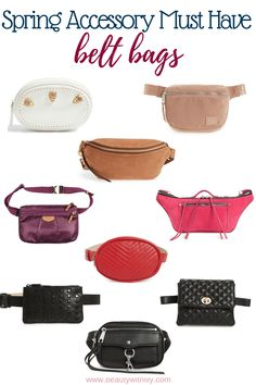Must Have Spring Accessories // Spring Essentials // Spring Fashion // Summer Fashion // Belt Bags Fashion Belts, Teen Fashion Outfits, Fashion Women, Fashion Trends, Tote Bags, Belt Bags, Thigh Bag, Mein Style, Louis Vuitton Damier