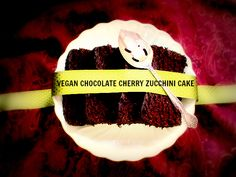 Vegan Chocolate Cherry Zucchini Cake from Canned-Time.com